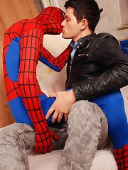 Hero-Worship Leads To Cock-Worship As Spidey Gets To Fuck Hungry Twink Ass!